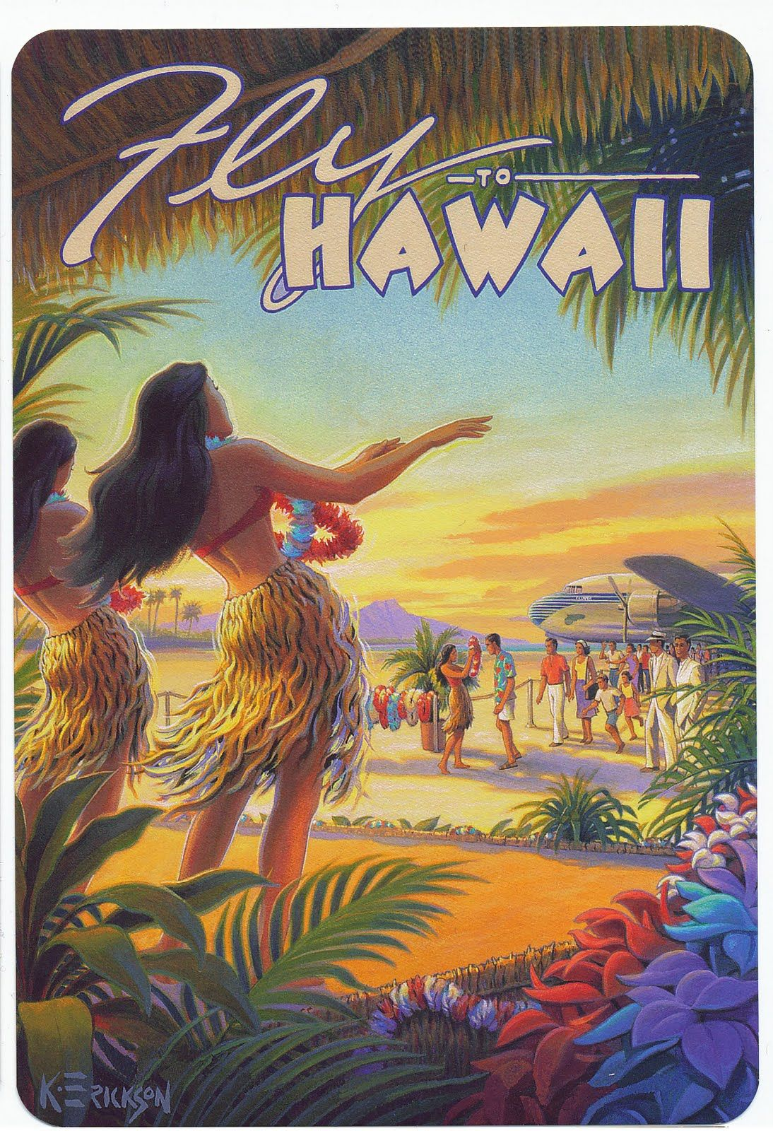 Mademoiselle B: Vintage Style Postcards from Hawaii