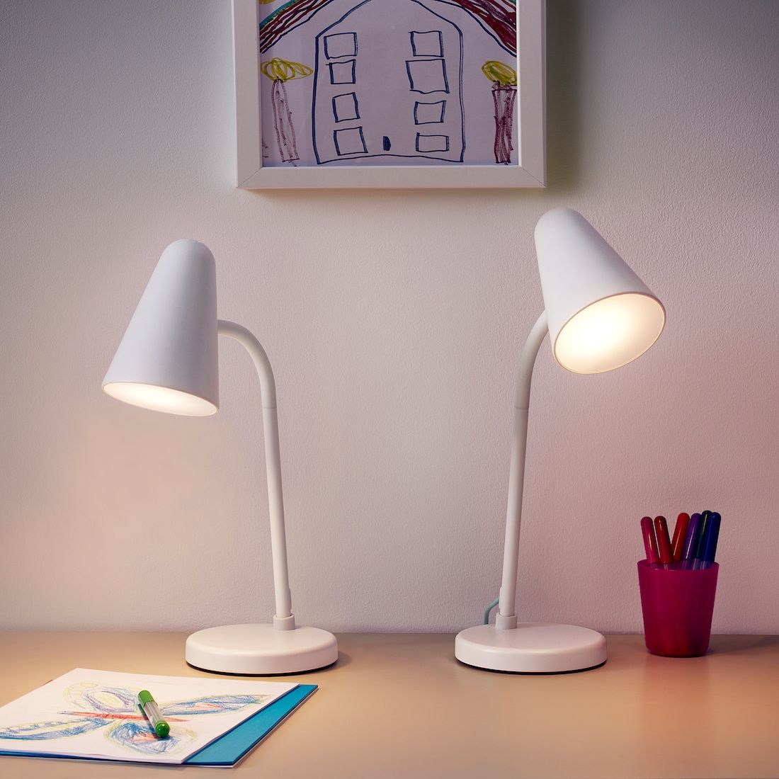 Fubbla Led Work Lamp White Ikea In 2020 Lamp Work Lamp Led Light Bulb