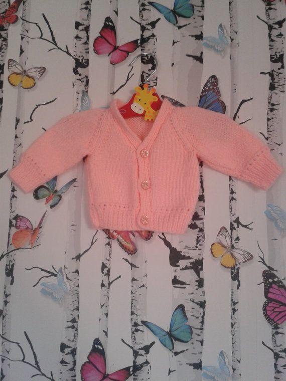 903471c5d Pink Newborn Cardigan