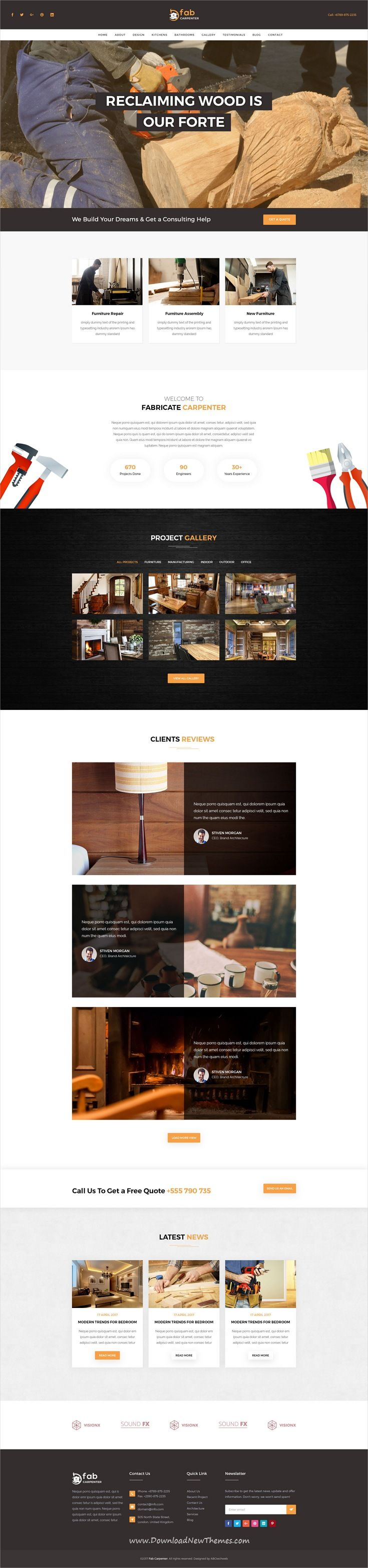 Fab is clean and modern design PSD