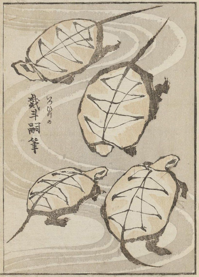 Katsushika Hokusai Illustration From Album Of Drawing With One