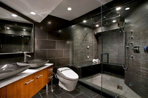 Modern Dark Bathroom