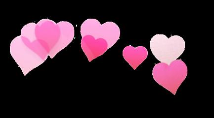 Heartcrown Pink White Cute Pretty Tumblr Hearts Crown Fotografi Konseptual Emoji Pengeditan Foto