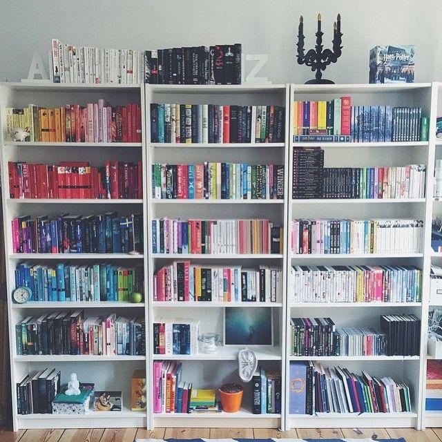 lottelikesbooks has the bookshelf to give you major shelf envy, so
