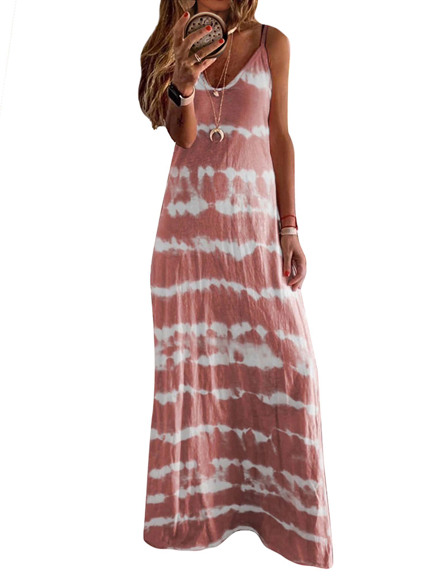 Women Summer Boho Print Long Maxi Dress Spring Dresses Casual Maxi Dress Casual Maxi Dress Outfit [ 2000 x 1500 Pixel ]