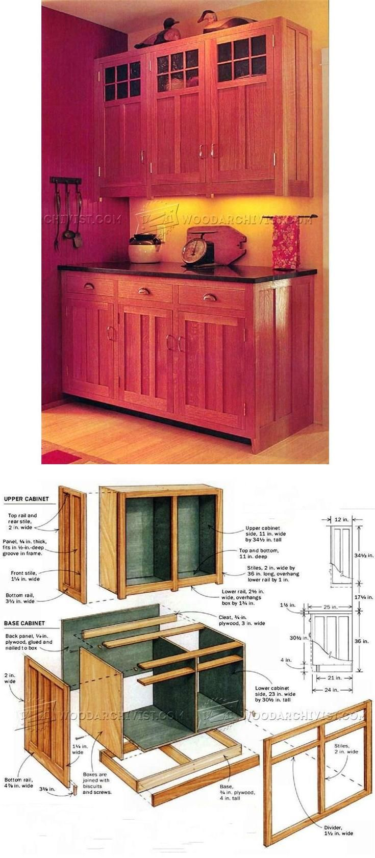 kitchen cabinets plans furniture plans and projects rh pinterest com