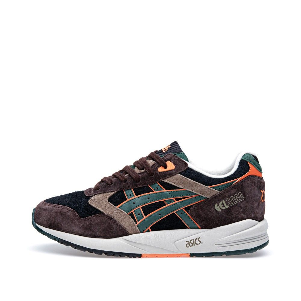 Asics Gel Saga (Black, Brown & Dark Green)