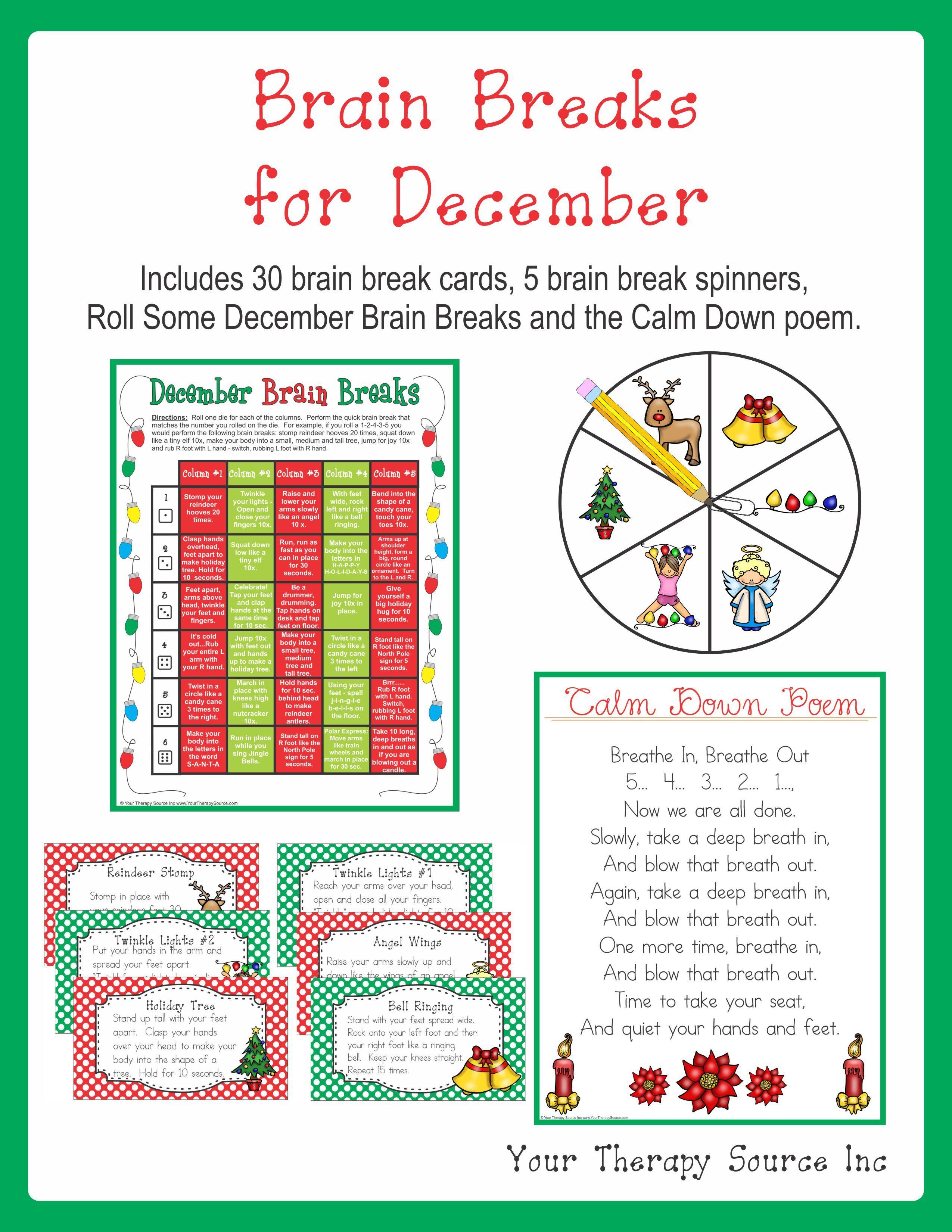 Brain Breaks December