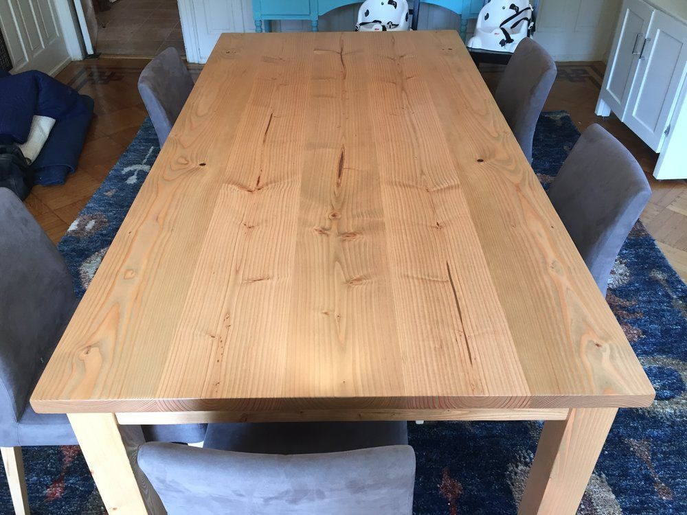 7 Table With Fruitwood Stain 7 Dining Table Custom Wood