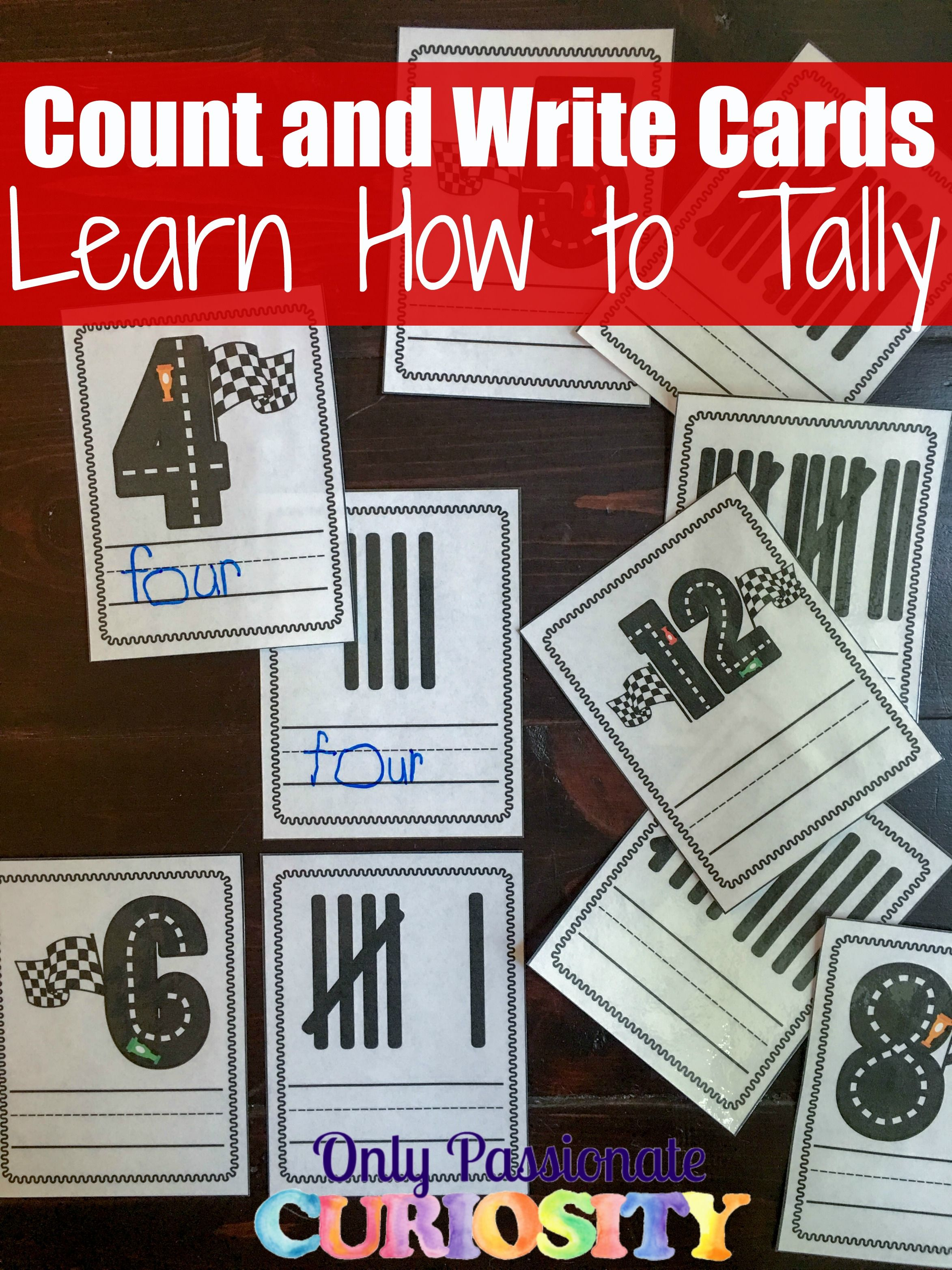 Count And Match Tally Cards