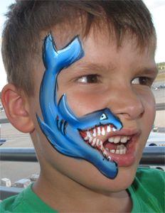 Kinderschminken Hai Kinder Schminken Kinderschminken Schminken