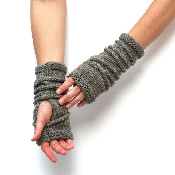 Knitting Pattern Wrap Gauntlets Fingerless Gloves Pattern Knit