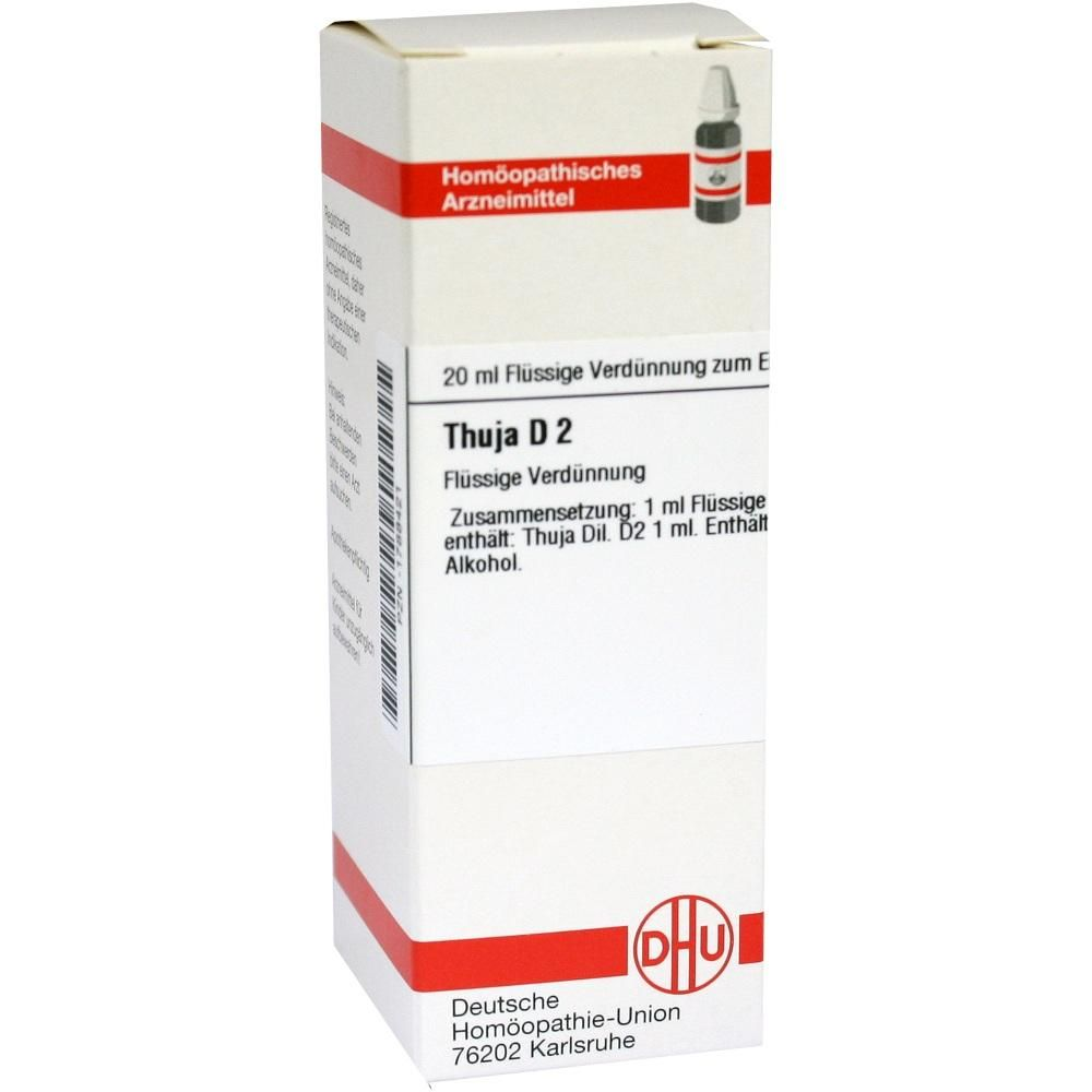 THUJA D 2 Dilution Packungsinhalt 20 ml Dilution PZN