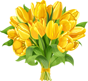 Kartinki Po Zaprosu سكرابز ورد توليب اصفر Yellow Tulips Tulip Painting Flower Painting