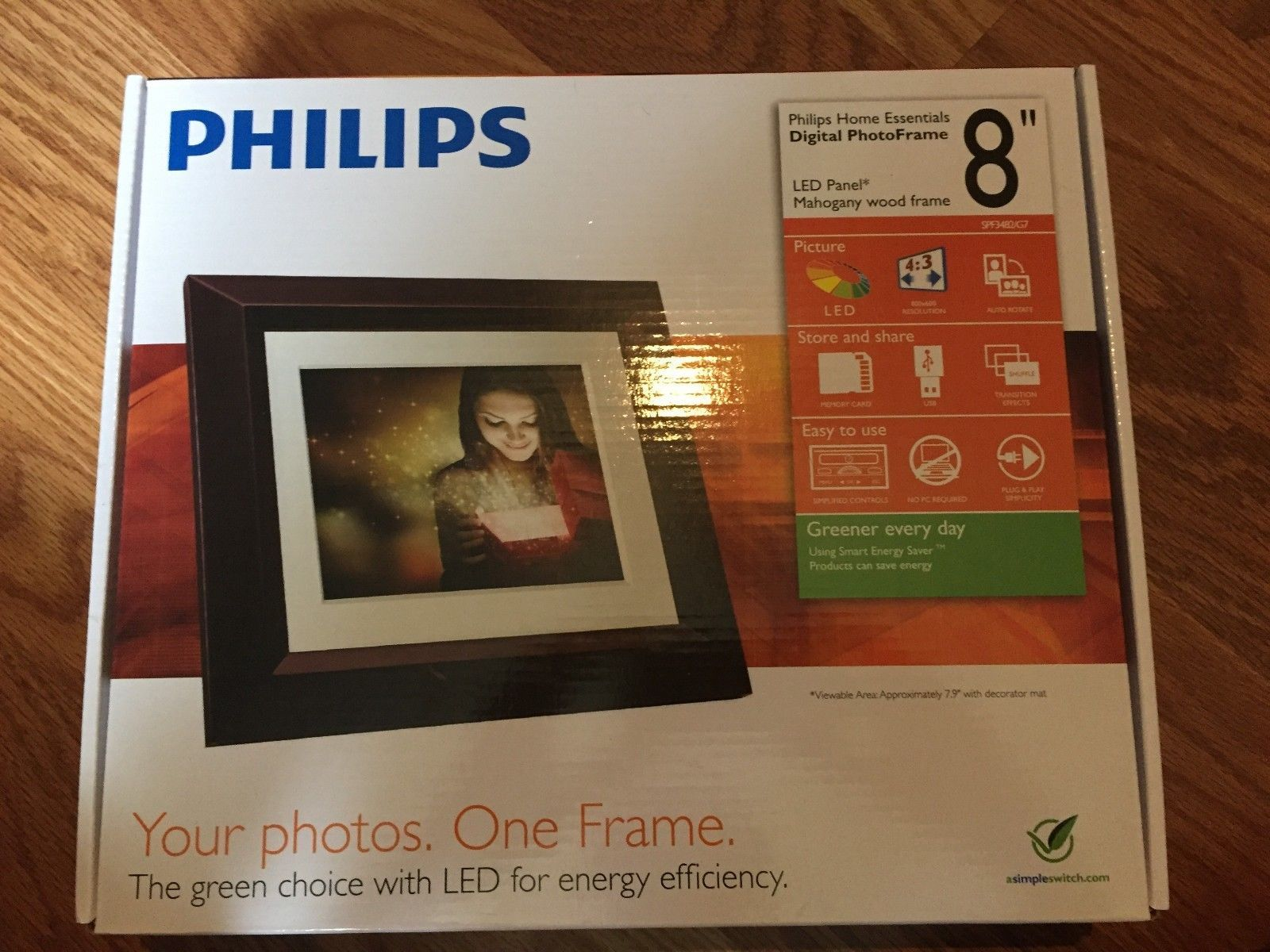 Philips Spf3482 Home Essentials Digital Photoframe 8 Lcd Panel