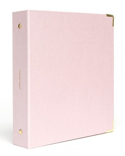 Peony Bookcloth Mini 3 Ring Binder
