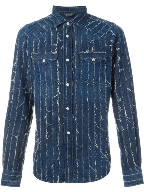 DIESEL Distressed Denim Shirt. #diesel #cloth #shirt