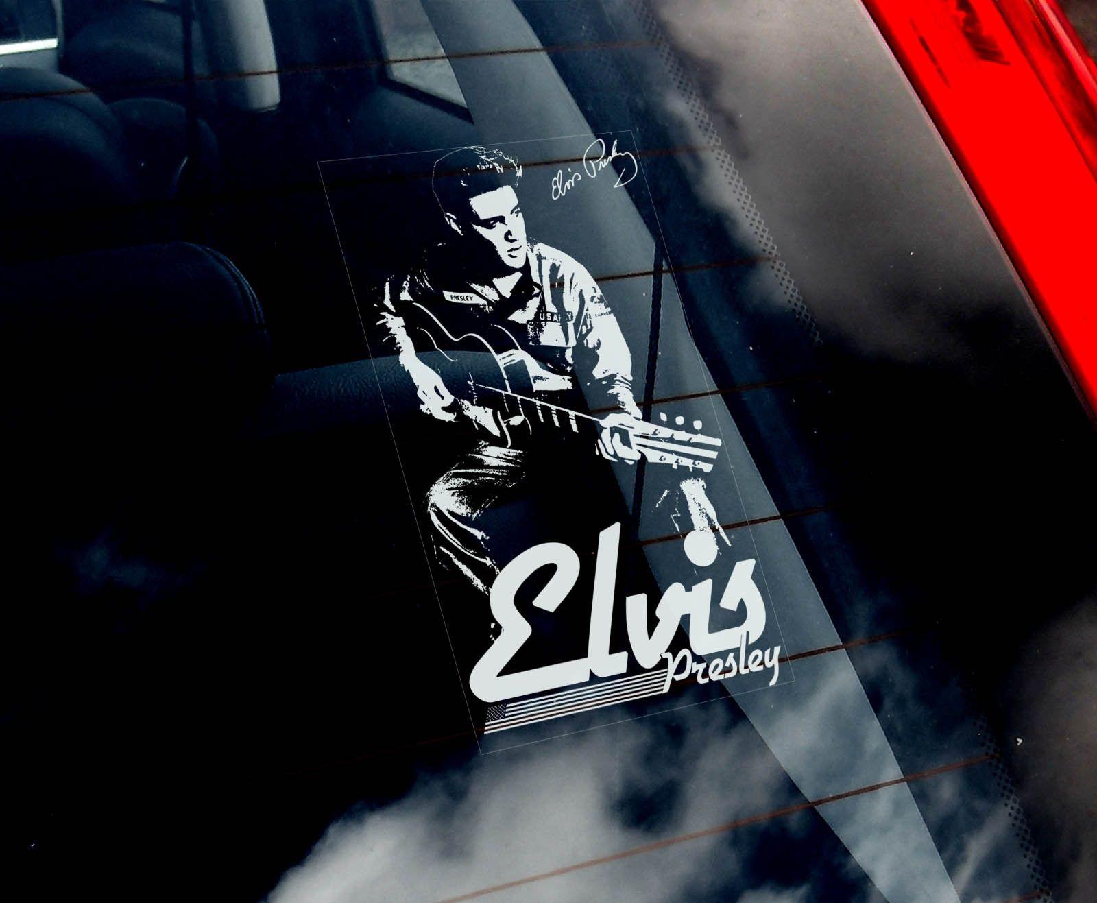 Elvis Presley Car Window Sticker The King Rock N Roll Music Sign Decal V04 Ebay