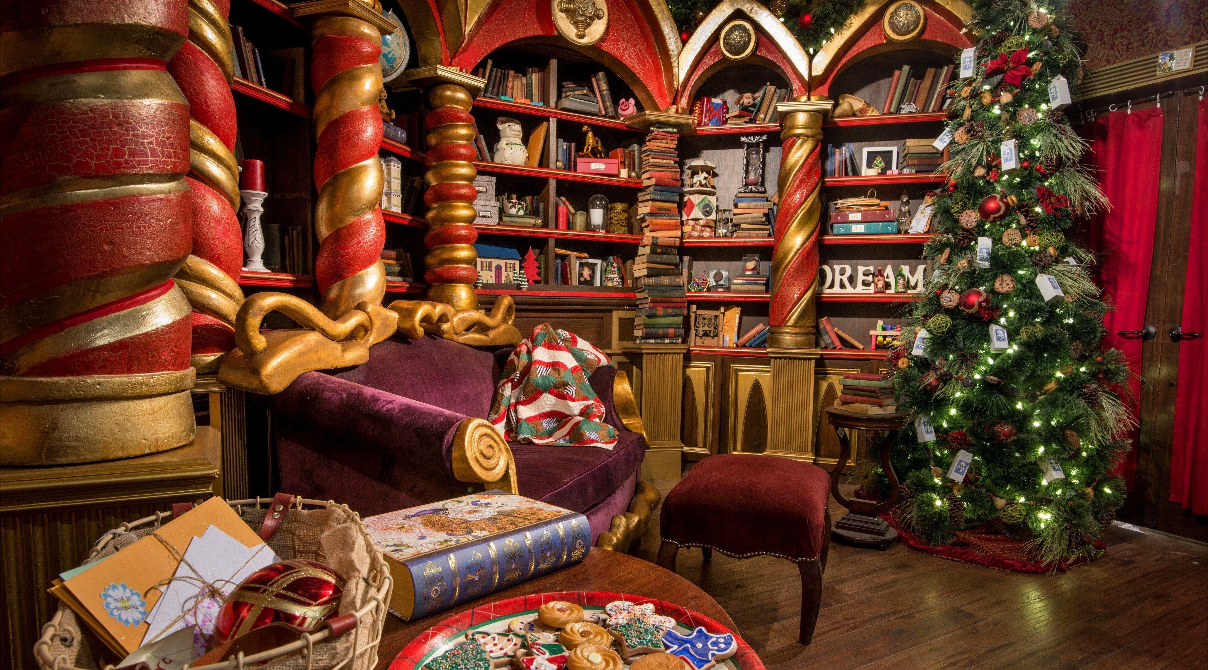 3840x2130 Christmas 4k Wallpaper Hd Background Santas Workshop Santa Experience North Pole Santa S Workshop