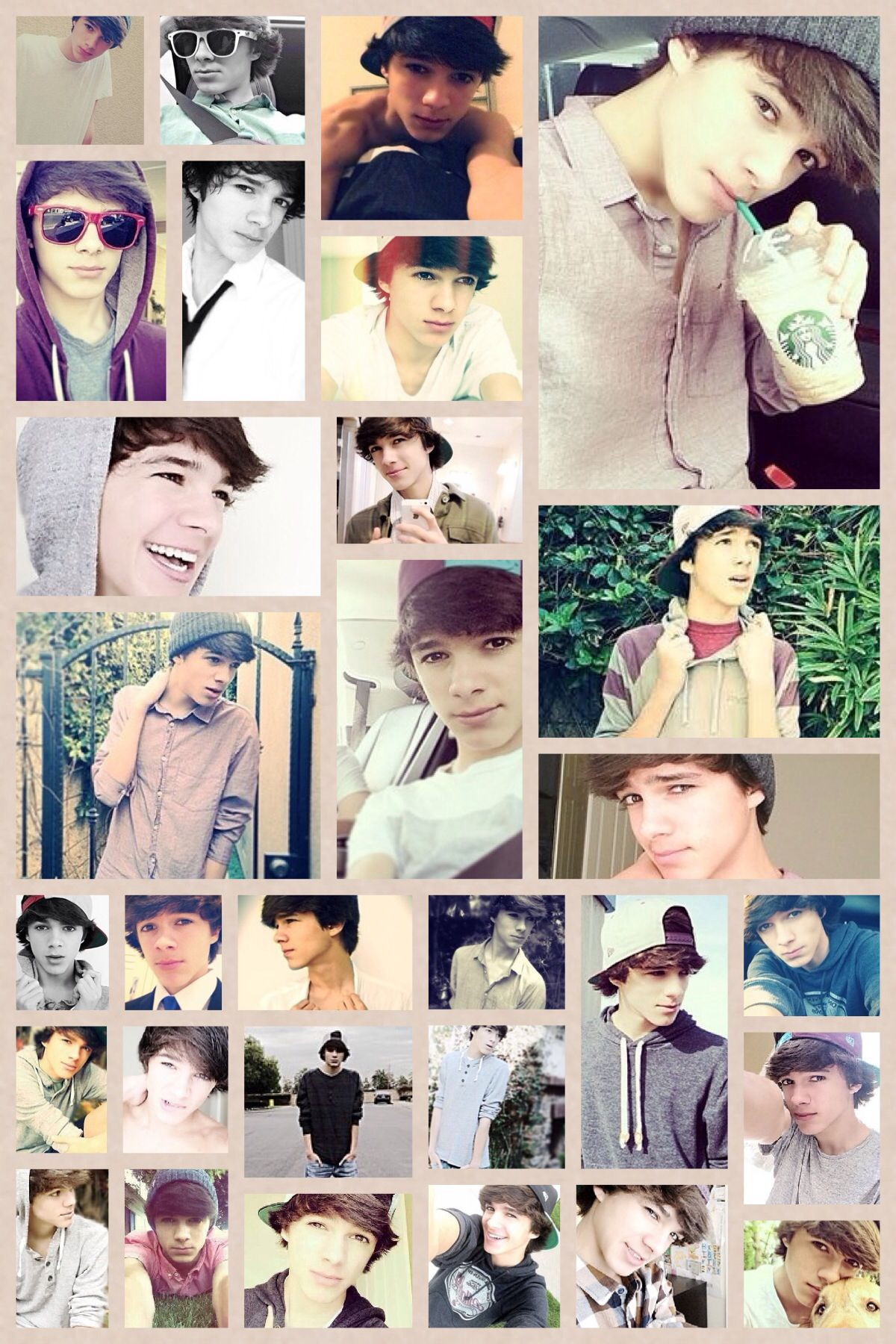 A collage of Brent Rivera. Brent is a viner. | Brent ...