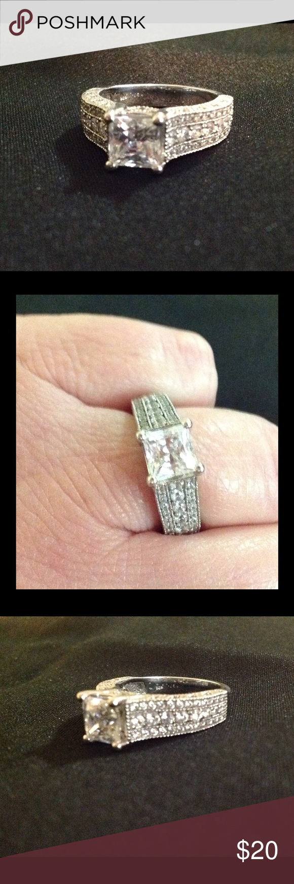 925 ring size 8 Sterling silver ring size 8. Stamped 925. Good condition. No box. Jewelry Rings