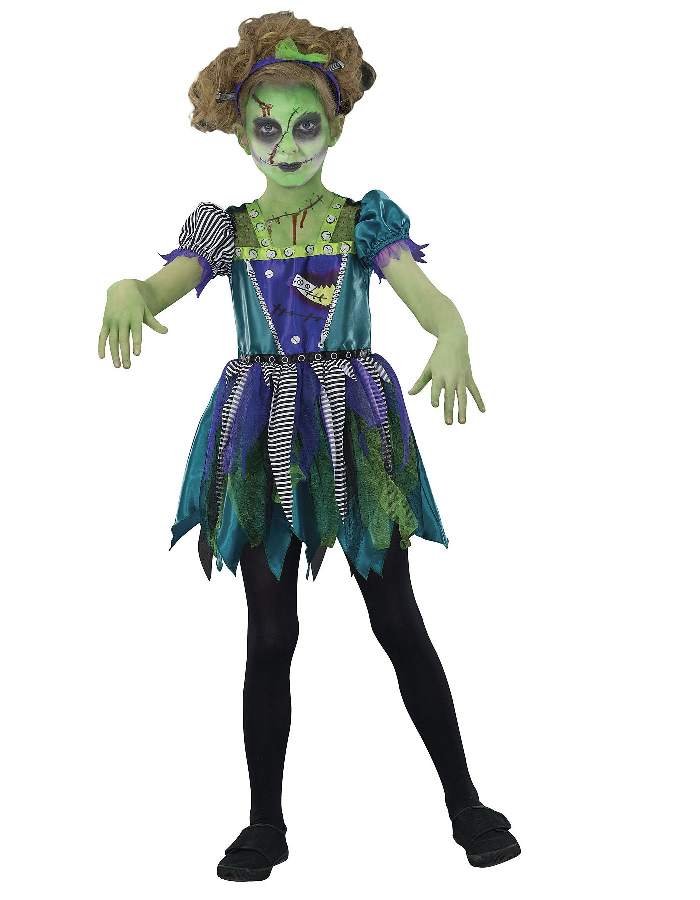 frankenstein fancy dress costume girls george at asda - 4t Halloween Costumes Girls