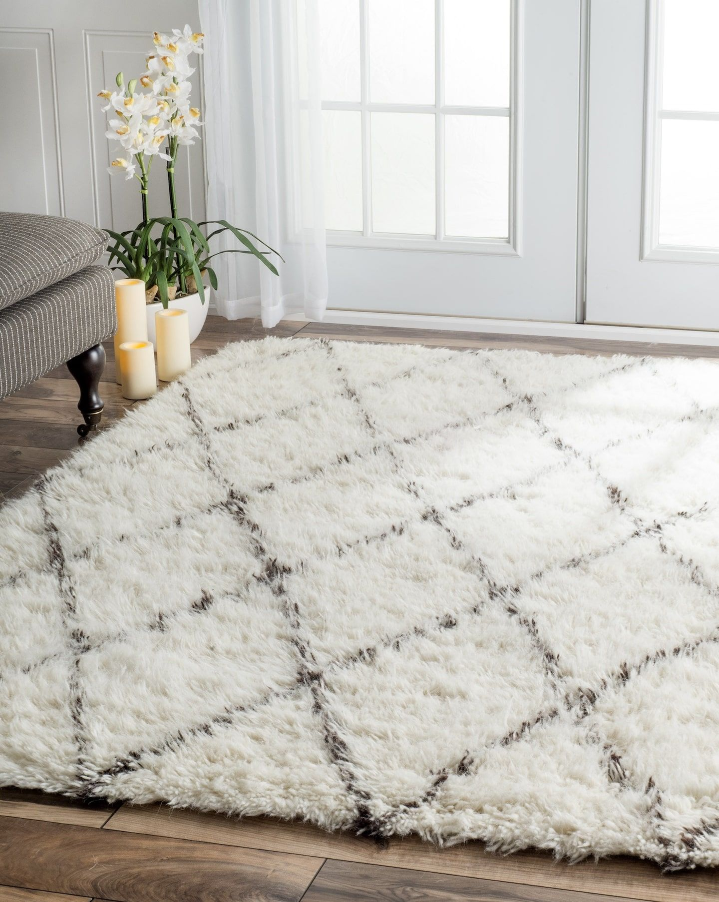 Rugs Usa Tuscan Wool Moroccan Shag Rug Living Room