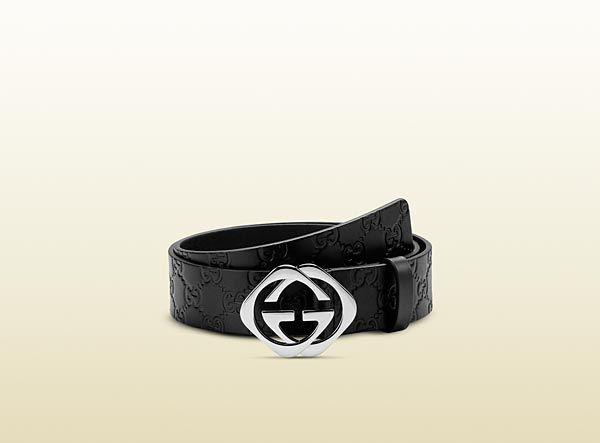 Gucci , Guccissima belt with Square G