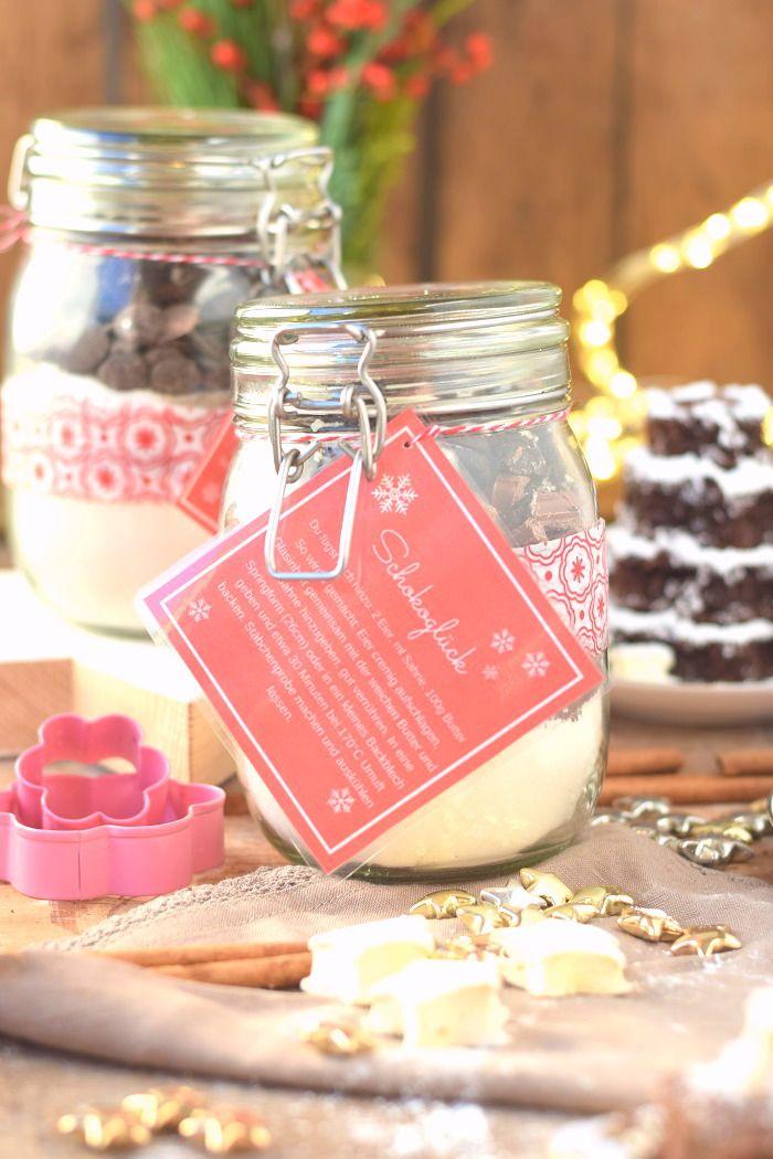 Interessante Weihnachtsgeschenke.Backmischung Schneller Schokokuchen Zimt Marshmallows Chocolate
