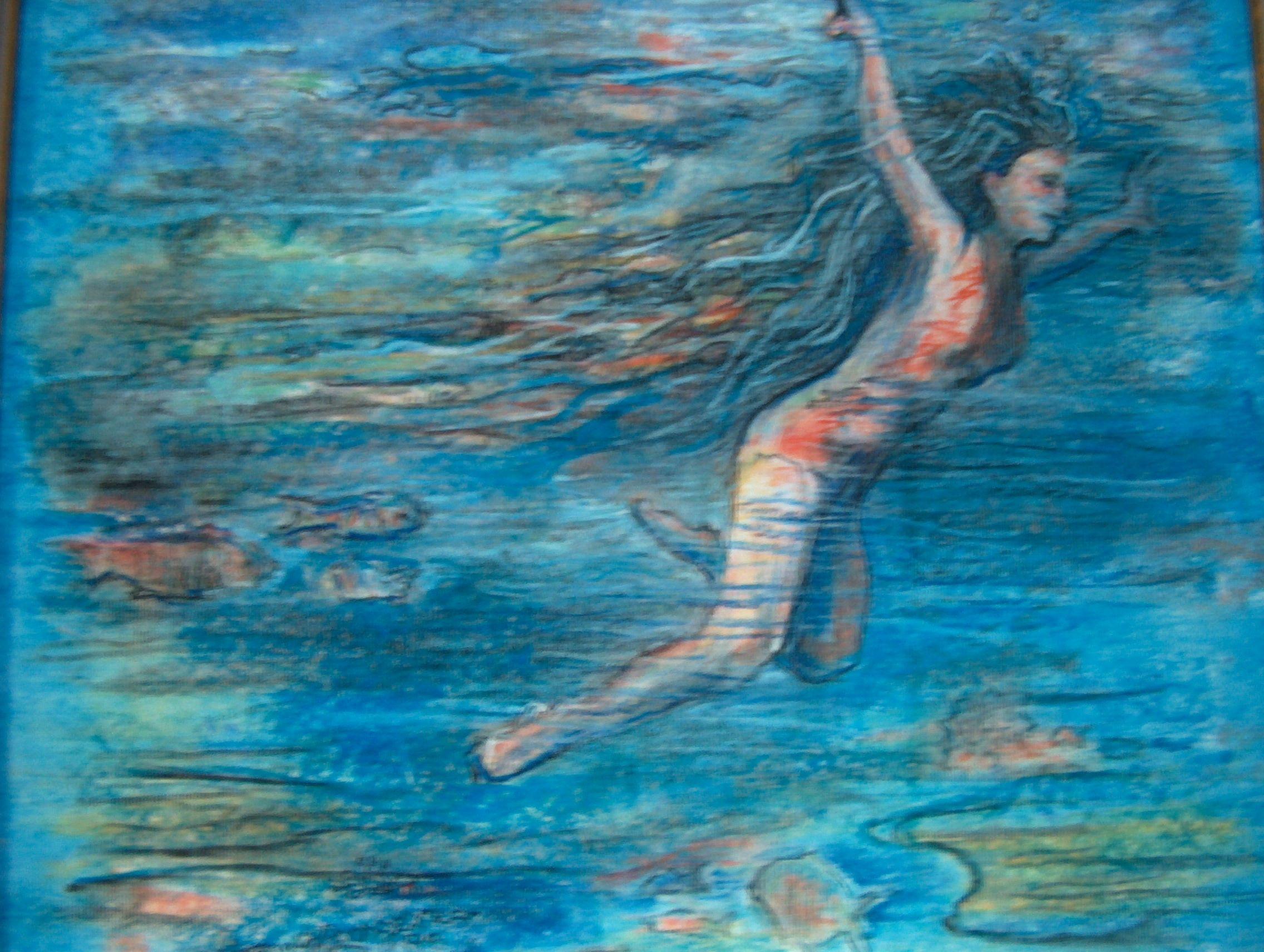 pastel- what it's like to snorkel in Hawaaii- VAN WINKLE