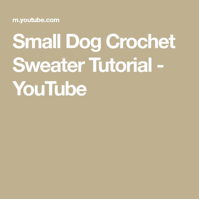Small Dog Crochet Sweater Tutorial