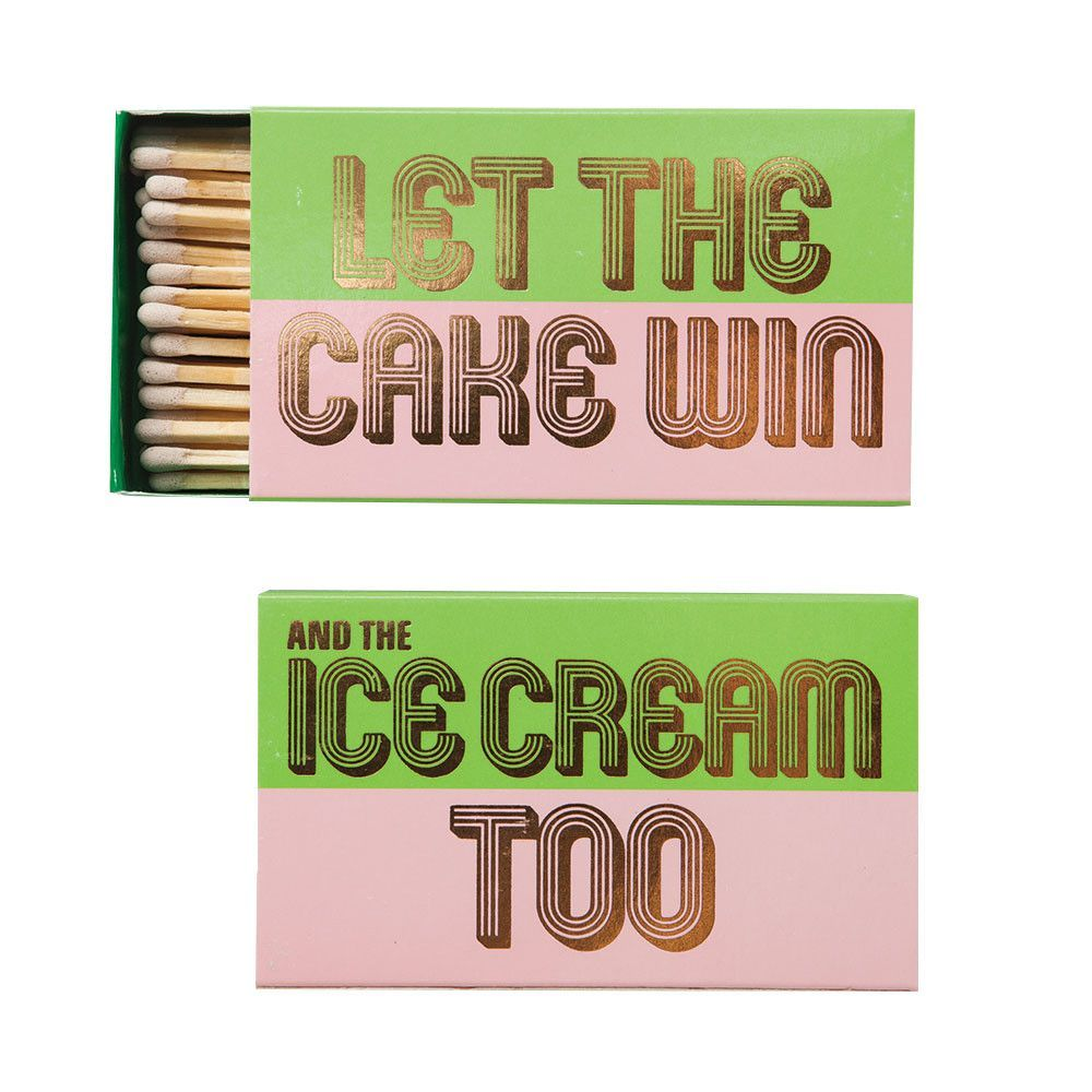 """""""Let The Cake Win, And The Ice Cream Too"""" Matchbox"""