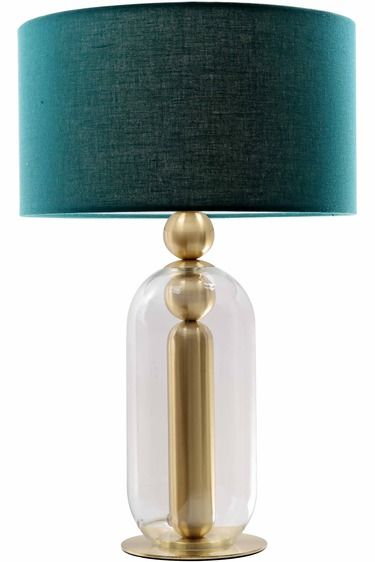Halk table lamp lighting pinterest lights house and living rooms brass glass halk table lamp perfectly combines a brass base with the soft feminine shapes of glass navy shade halk has a sophisticated navy blue aloadofball Images