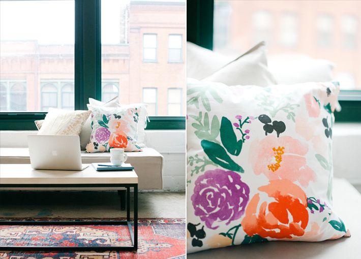 caitlin-wilson-floral-pillow | pillows/fabric | Pinterest ...