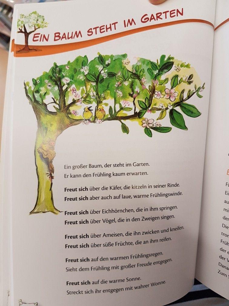 Ein Baum Steht Im Garten Fruhling Gedicht Kita Kindergarten Krippe Erzieherin Fruhling Im Kindergarten Kinder Gedichte Kindergedichte