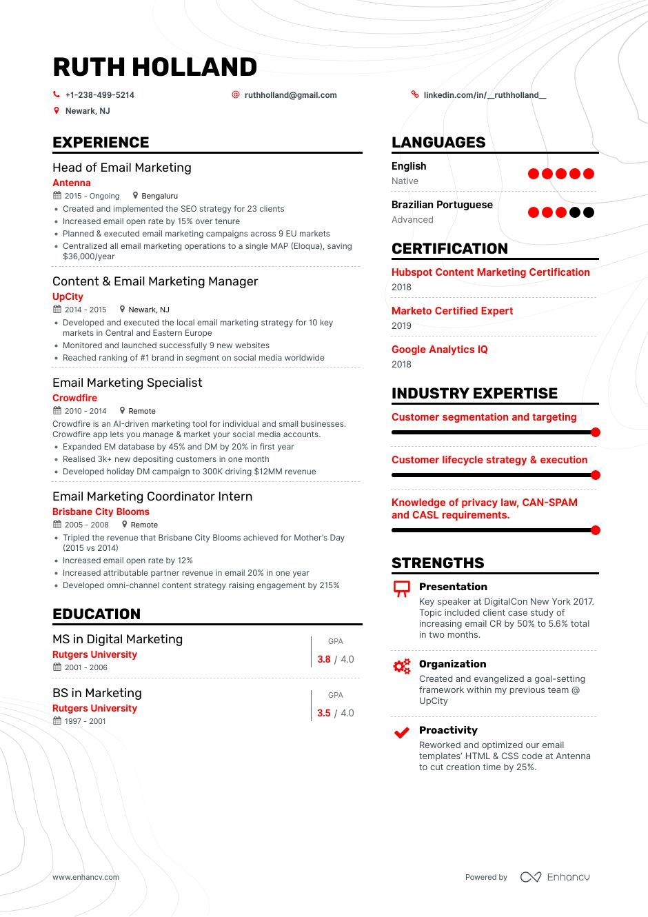 10 Email Marketing Resume Examples For 2019 Marketing Resume Resume Examples Resume