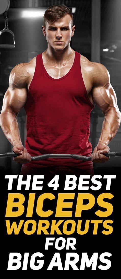4 Biceps Workouts For Bigger Arms - THEBODYBUILDINGBLOG #bicepsworkout