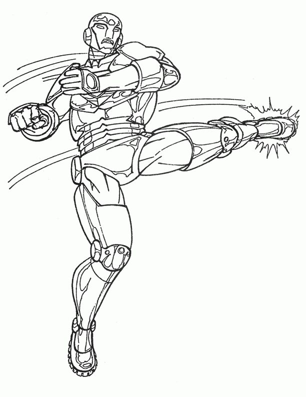 Iron Man Coloring Pages For Kids Printable Online 38
