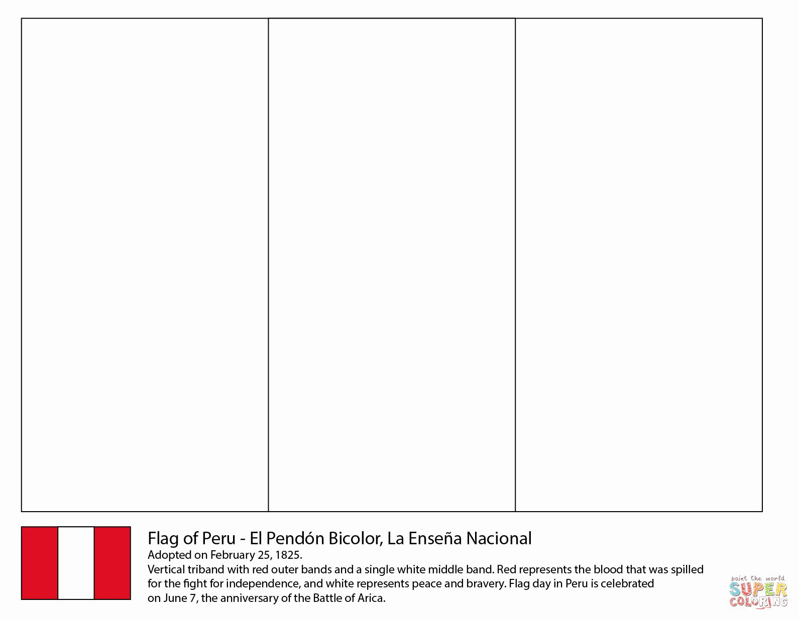 Peru Flag Coloring Pages In 2020 Peru Flag Coloring Pages