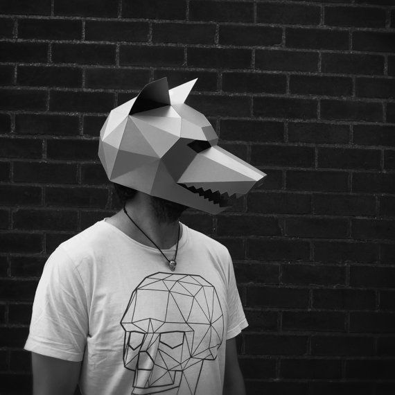 wolf mask make your own with this simple pdf download para