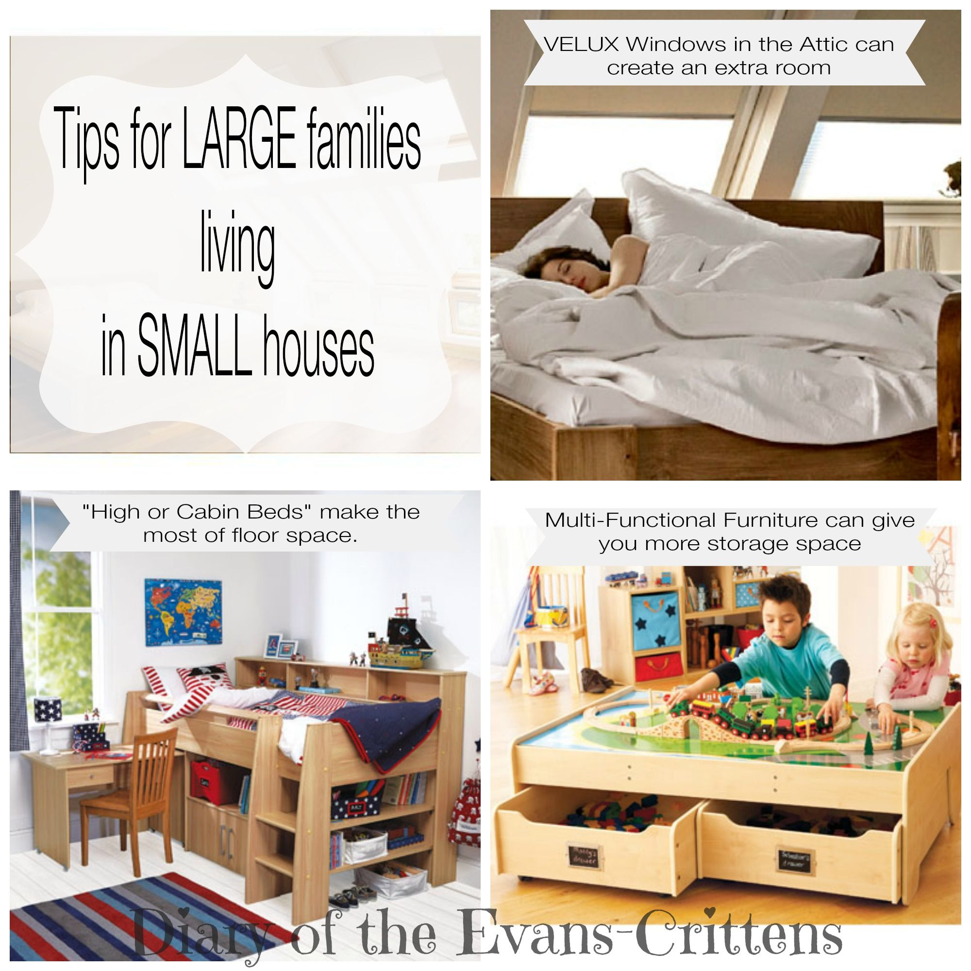 Tips For A Large Family Living In A Small Home Http Www Evans Crittens Com 2014 05 How To Live In Small Large Families Living Home And Family Small Spaces