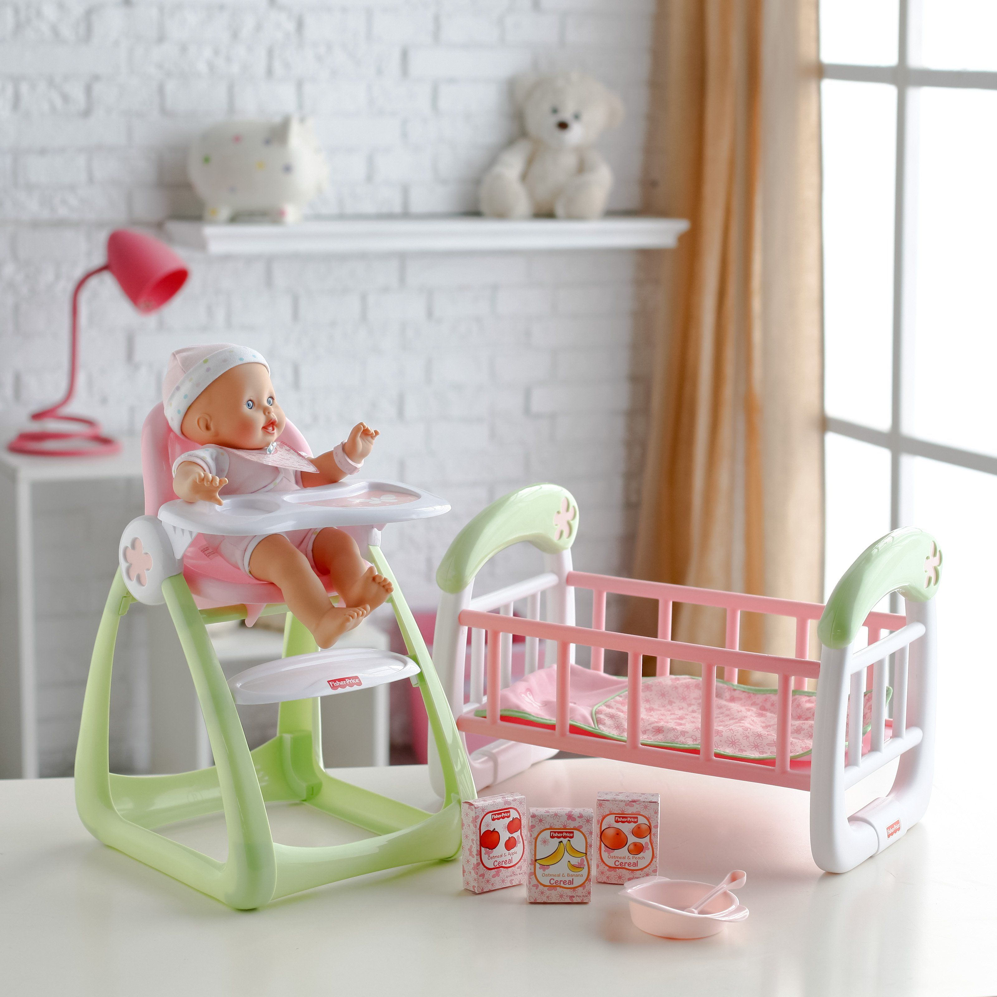 Fisher Price Play Set Baby doll furniture, Fisher price