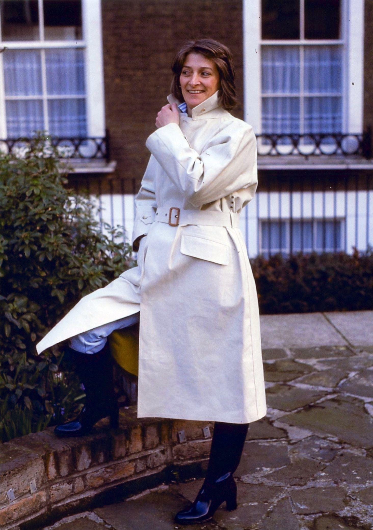 White Riding Mac Mac Mens Raincoat Rubber Raincoats Coat