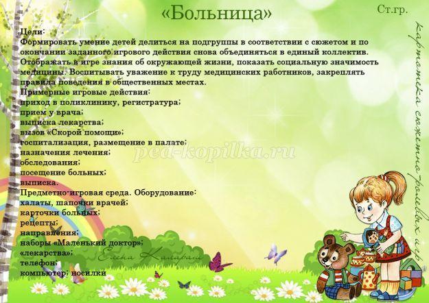Картотека сюжетно-ролевых игр для старшей группы | Ролевые ...