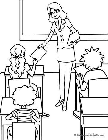 Teacher Coloring Pages For Preschool You'll Love