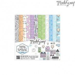 ModaScrap Paper Line - Paper Pack Happy Travel