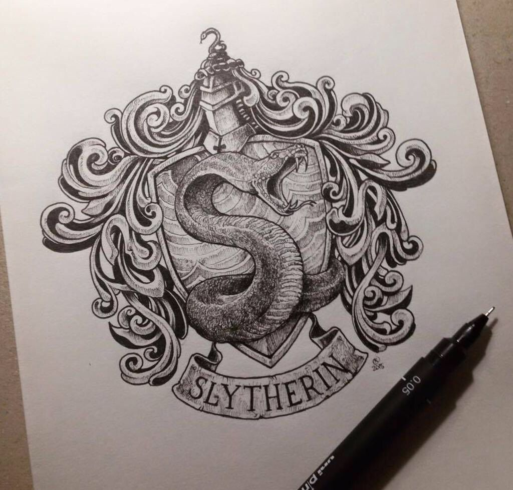 Slytherin Harry Potter Tattoo Idea Harry Potter Drawings Harry Potter Tattoos Slytherin Tattoo