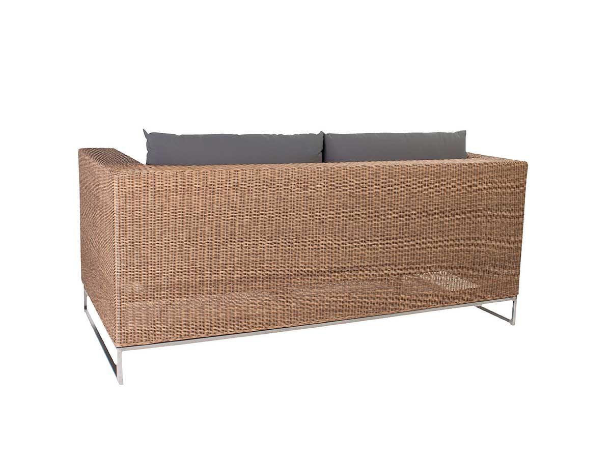 Stern Gartensofa/Loungesofa 2-Sitzer Fontana Geflecht natur antik Kissen taupe kaufen im borono Online Shop