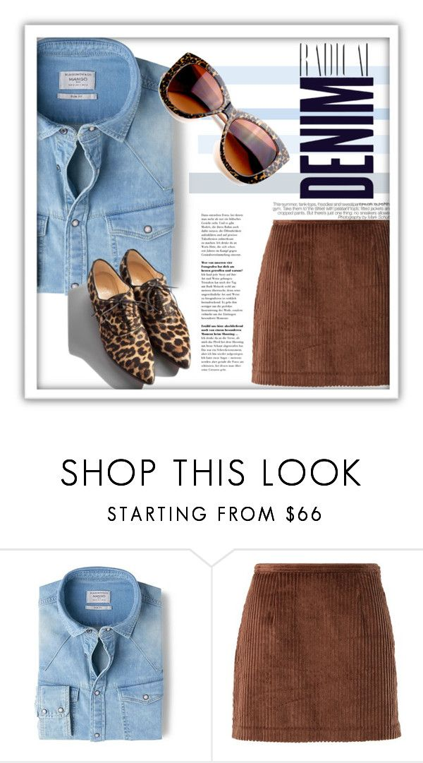"""""""Simple Denim"""" by sportsonista ❤ liked on Polyvore featuring MANGO, Opening Ceremony, Garance Doré, Alima, Retrò, women's clothing, women's fashion, women, female and woman"""