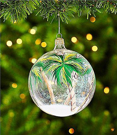 Dillards Trimmings 4 HandPainted Palm Trees Ornament #Dillards Beach  Christmas, Christmas 2017, Xmas - Dillards Trimmings 4 HandPainted Palm Trees Ornament #Dillards